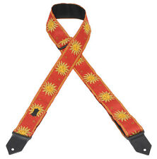 Levy's M8 Sun Red Jacquard Weave Guitar Strap