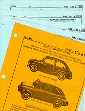 FIAT 600 600D SEDAN BODY PARTS LIST FRAME CRASH SHEET ORIGINALS RARE MF 2
