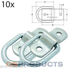 10 X 800kg Mini Lashing Ring on Plate Zinc Plated Steel FREE P+P