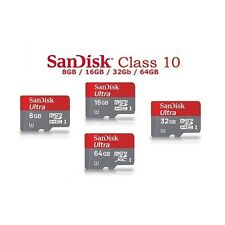 SanDisk Ultra 32GB Class10 micro SD SDHC 80 Mb/s Memory Card with adapter,NEW