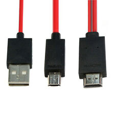 2M Micro USB to HDMI MHL Cavo Adattatore Full HD 1080P For Samsung GALAXY S4 S3