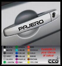 PAJERO Car Door Handle Stickers/Decals x 4