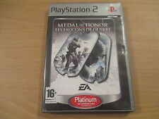 jeu playstation 2 medal of honor les faucons de guerre