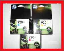 *NEW Genuine HP 920XL Cyan Magenta Yellow Color Ink Cartridges Combo 3-Pack 7000
