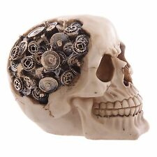 Cogs Gears Skull ornament 11cm gift gothic skeleton steampunk terminator style
