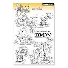 PENNY BLACK RUBBER STAMPS CLEAR EAT CAKE SET 2011