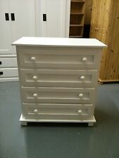 FURNITURE WAREHOUSE CLEARANCE VIENNA WHITE 4 DRAWER CHEST NO FLAT PACKS