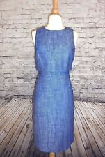 J CREW GOING - PLACE DRESS NWT SIZE-4 STYLE F#6531 IN COBALT IVORY FOR WORK