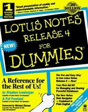 For Dummies: Lotus Notes Release 4 for Dummies by Stephen Londergan (1996,...