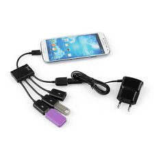 20 cm Micro USB 4 Hub OTG Port Host Charging Adapter Cable for Samsung HTC LG
