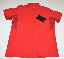 MSRP 99 NWT Arc'teryx Adventus Button Front Short Sleeve Shirt L Large Red