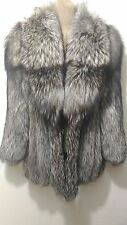 new design 100% real silver fox fur coat