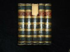 Boswell Life of Samuel Johnson 1831 leather binding 5 vols first Croker edition