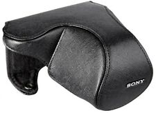 Sony LCS-EML2A Leather Lens Jacket for SEL1855 Lens for Sony NEX Camera, Black