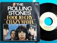 "ROLLING STONES FOOL TOUT CRY  FRENCH SP 7"" Picture Sleeve"