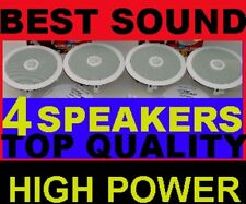 """(4-PACK)  TOP-OF-THE-LINE CEILING SPEAKERS - LARGEST 8"""" (11"""" INSTALLED) BEST SND"""