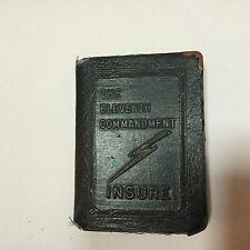 Leather Book Bank The Eleventh Commandment Insure Zell Products Co. of NY Vol X