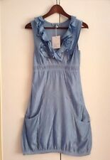 MADE IN ITALY BOOM&COUER TUNIC DRESS WET LOOK CONTRASTING FABRIC SZ S 8-10 BNWT