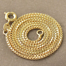 17.7 inches 9K Yellow Gold Filled Womens Chain Necklace F4847