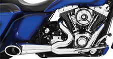 FREEDOM PERFORMANCE CHROME/BLK TURN-OUT 2-INTO-1 EXHAUST 95-16 HARLEY TOURING