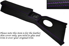 PURPLE STITCH CENTRE CONSOLE COVER&ARMREST LEATHER SKIN COVERS FITS MG MGB 72-80