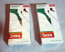 2 Packets MENTHOL (240) SWAN EXTRA SLIM Filter Smoking Tips Smoother Taste