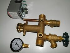 """1"""" x 4.5"""" BRASS TANK TEE KIT+WELLMATE QUICK CONNECT WM 4 6 9 12 SQUARED 4060"""