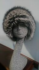 Natural Silver Fox Fur Skin Hat - Real Fur