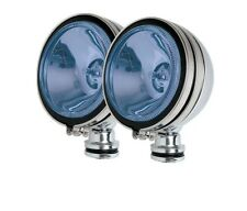 "2 x ANGEL EYE 4"" BLUE CAR CHROME SPOT LIGHTS PAIR"