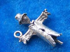 VINTAGE STERLING SILVER CHARM ARTICULATED SCARECROW