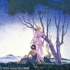 3 Original 1920s PURPLISH  MAXFIELD PARRISH STYLE Art Deco Print NOS Unused