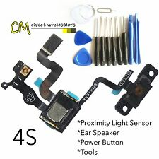 Proximity Sensor And Power Button Flex Cable + Earpiece Speaker For iPhone 4S &T