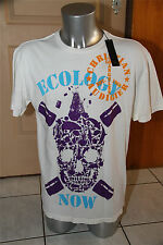 tee shirt ecology now blanc ED HARDY audigier T L  NEUF ÉTIQUETTE val. 109€