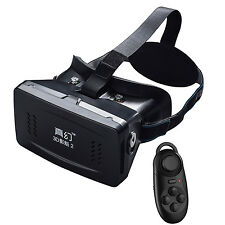 VR Virtual Reality 3D Video Movie Glasses Goggles with Bluetooth Controller
