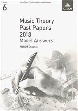 ABRSM Past Theory Of Music Exam Paper 2013 Grade 6 Model Answers Sheet Music