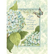 BLUE HYDRANGEAS ADDRESS BOOK, 3-ring padded cover, full color artwork