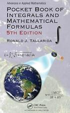 Pocket Book of Integrals and Mathematical Formulas, 5th Edition by Ronald J....