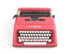 CRIMSON OLIVETTI LETTERA 35 - Portable Manual typewriter - working typewriter