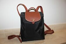 Authentic NEW LONGCHAMP Le Pliage Nylon Backpack Black FRANCE