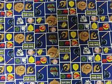 Star Wars FABRIC BLUE Character BLOCK COTTON QUILTING FABRIC NEW BTY ANGRY BIRD