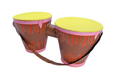 NEW INFLATABLE BONGO DRUMS HIPPIE FANCY DRESS BEATNIK MUSICIAN REGGAE AFRICAN