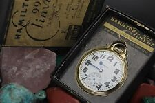 C,. 1939 HAMILTON 992E ENLIVAR 21j 16s 10K G.F. Railroad Pocket Watch Full Set