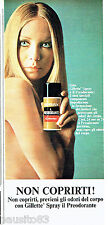 PUBLICITE ADVERTISING 046  1969  Gillette déodorant spray