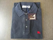 Homme classique burberrys london bleu/noir medium polo shirt – made in england