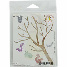 "Cheery Lynn Designs Die ~ Birch Tree W/ Cute Critters, 4.3/8""x5.3/8"" B370 ~ NIP"