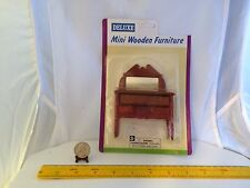 1/12 VINTAGE WOODEN DRESSER WITH REAL MIRROR DOLLHOUSE FURNITURE NOS