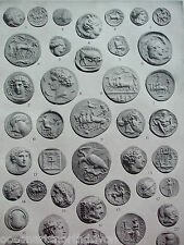 ANTIQUE PRINT 1926 NUMISMATICS GREEK AND ROMAN COINS VINTAGE PHOTO PRINT