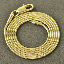 Womens stainless steel necklace 9K Yellow Gold Plated Snake Chain Necklace
