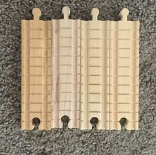 Authentic Wooden Thomas Train 4 Pieces of Clickety Clack 6 Inch Straight Tracks!