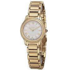 Fendi Womens F251424000 Classico White Dial Goldtone Stainless Steel Watch